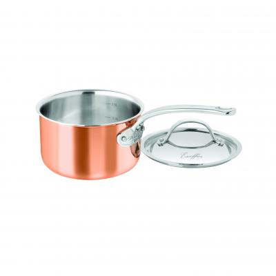 Chasseur Escoffier Saucepan with Lid 18cm 2.5L | Copper Tri-ply