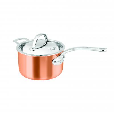 Chasseur Escoffier Saucepan with Helper Handle and Lid 20x12cm | Copper TryPly