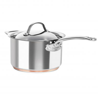 Chasseur Le Cuivre 20x12cm Sauce Pan with Handle and Lid