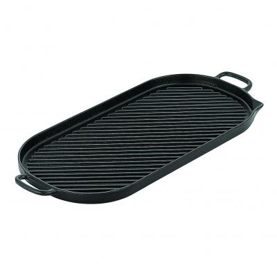 CHASSEUR Oval Stove Top Grill Pan 52 x 23cm | Black Onyx