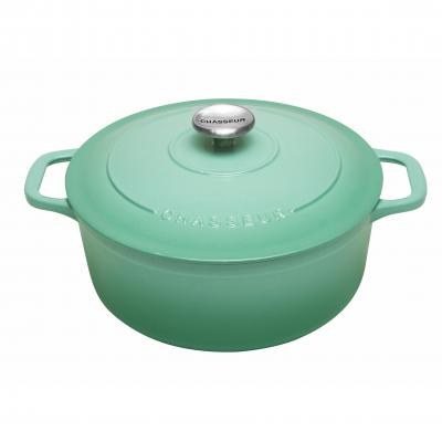 Chasseur Round French Oven 26cm 5L Peppermint