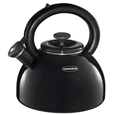 Chasseur Enamelled Whistling Kettle 2.5 Litre - Black