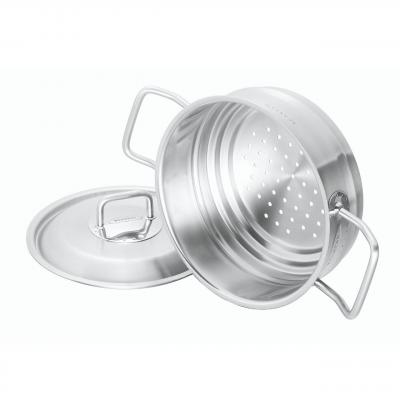 Scanpan Commercial 16/18/20cm Steamer with Lid