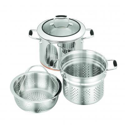 SCANPAN Multipot Set 24cm Stockpot Pasta Insert Steamer Insert