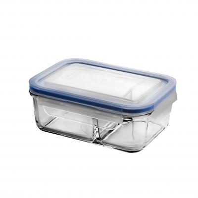 Glasslock Duo Tempered Glass Food Container | 670ml