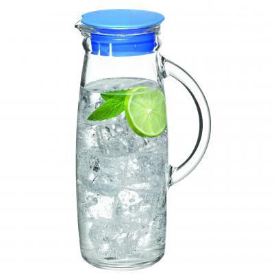 GLASSLOCK Glass Water Jug with Lid 90mm x 230mm/1000ml