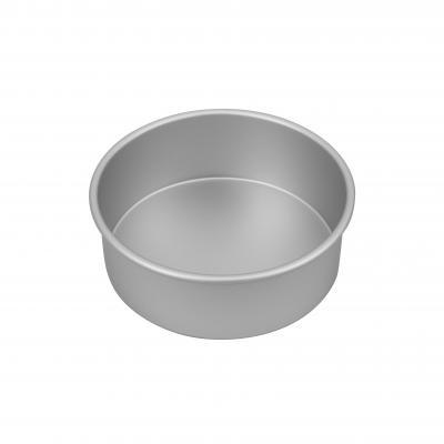 Bakemaster Silver Anodised Round Cake Pan 20x7.5cm