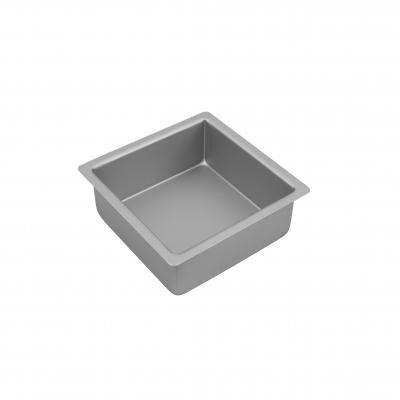 Bakemaster Silver Anodised Square Cake PAN 17.5X7.5CM