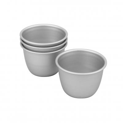 Bakemaster Silver Anodised Set/4 Pudding 7.5x6cm