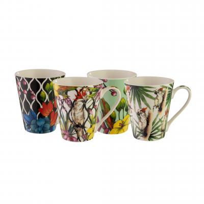Bundanoon Conical Mug | Cockatoo Set Of 4