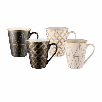 Bundanoon Conical Mug Set 4- Geotalics