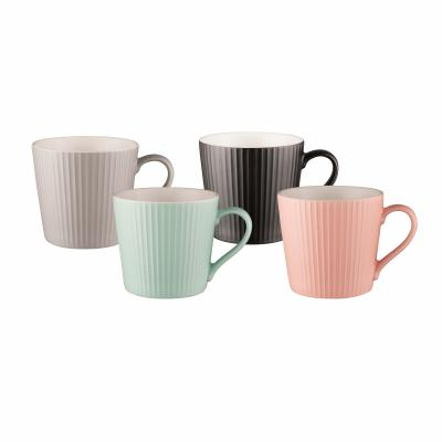 Bundanoon Mod Mug Set Of 4-Ribbed 429ml