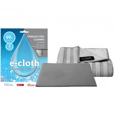 E-Cloth Stainless Steel Cloth Twin Pack