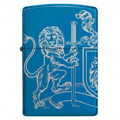 Zippo High Polish Blue Lion And Sword Lighter