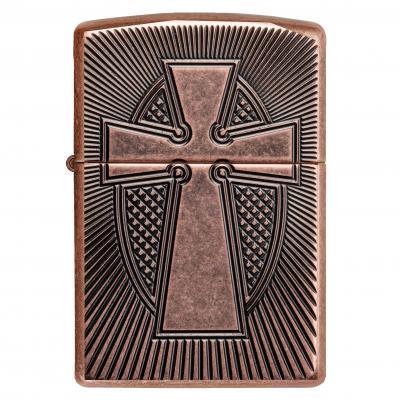 Zippo Cross Armour Antique Copper Lighter