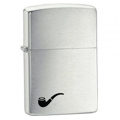 ZIPPO Pipe Lighter | Brushed Chrome
