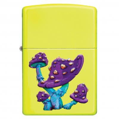 Zippo Neon Yellow Mushrooms Lighter