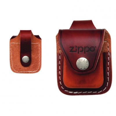 ZIPPO Brown Leather Pouch with Loop