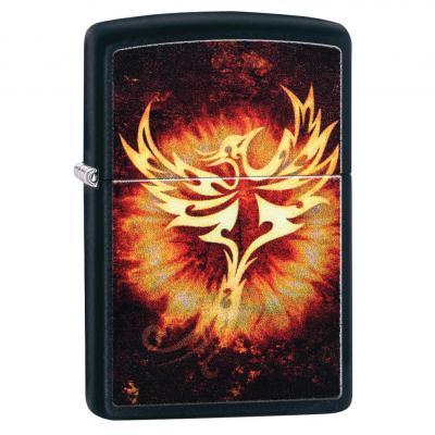 Zippo Black Matte Phoenix Lighter