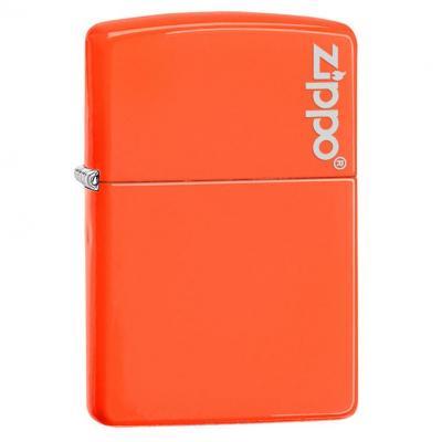 Zippo 28887ZL Neon Orange with Zippo Logo
