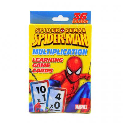 Spiderman Learning Game Cards Multiplication