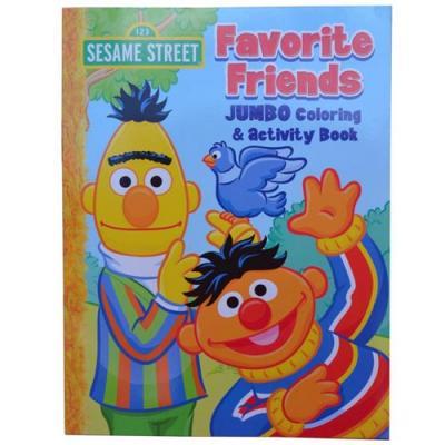 Sesame Street Activity Colouring Book Bert Ernie New Licensed