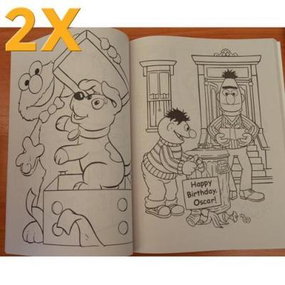 2x Sesame Street Kids Colouring Activity Book Oscar Grover New Licensed