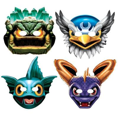 Skylanders Masks 8 Pack Party Paper Masks Party Favours