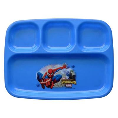 Spiderman Sectioned Plate Kids Plastic Reusable Dinner Plate New Licensed BPA Free