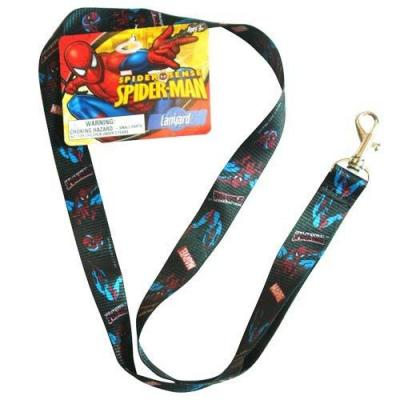 Spiderman Lanyard Keychain ID Holder New Lincesned