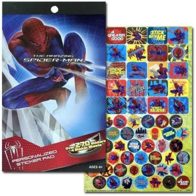 Spiderman Sticker Pad 4 Pages 200+ Spider-man Stickers Licensed