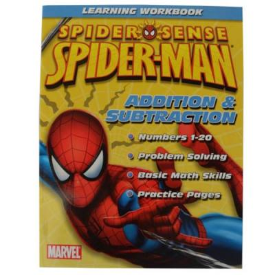 Spider-Man Learning Workbook Addition & Subtraction New Licensed