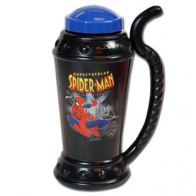 Spiderman Sipper Mug Drink Bottle with built in straw Black New Licensed BPA free