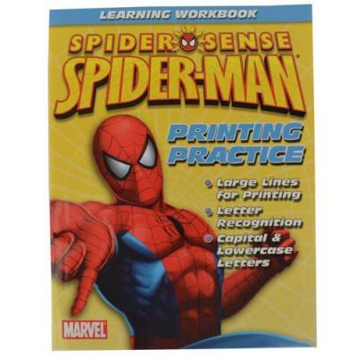 Spider-Man Learning Workbook Kids Printing Practice New Licensed