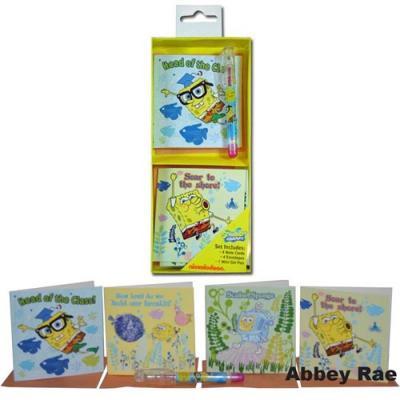 Spongebob Squarepants Gift Cards & Gel Pen