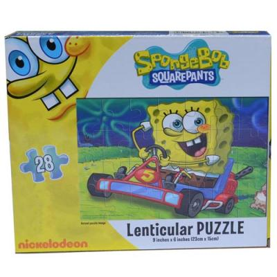 Spongebob Squarepants 3D Jigsaw Puzzle Racing Car 28 Piece New Licensed