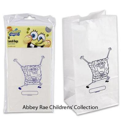 Spongebob Squarepants Paper Lunch Bags Party Favour Bags 10 pack New Licensed