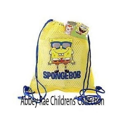 Spongebob Squarepants Sling Bag Kids drawstring Backpack New Licensed Yellow