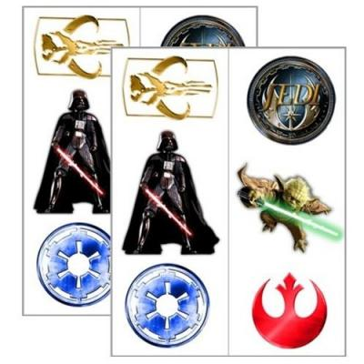 Star Wars Temporary Tattoos - 12 Tattoos