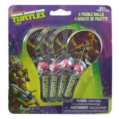 Teenage Mutant Ninja Turtles Mini Paddle Balls 4 Pack New Licensed