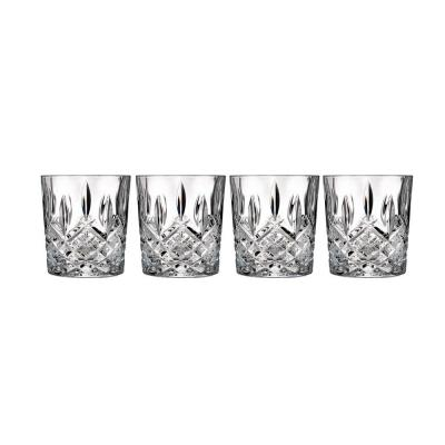 Marquis by Waterford Markham Crystalline Old Fashion Whiskey Tumbler | Set of 4 Glasses