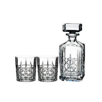 Marquis by Waterford Brady Crystalline Decanter Set | 739ml Decanter + 2 Tumblers