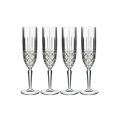 Marquis by Waterford Brady Crystalline Champagne Flute 177ml | Set of 4 Glasses