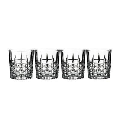 Marquis by Waterford Brady Crystalline Old Fashion Whiskey Tumbler | Set of 4