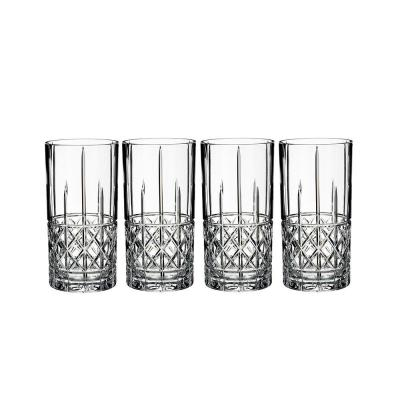 Marquis by Waterford Brady Crystalline Hi-ball Tumbler | Set 4 Glasses