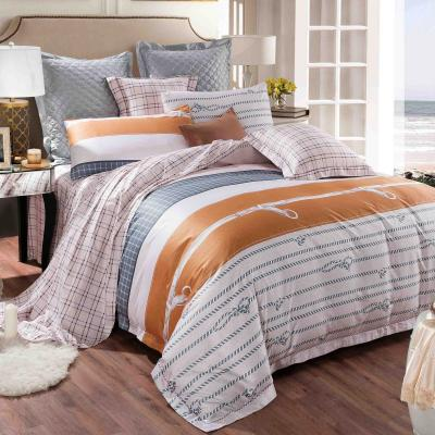Boutique Collections Premium Range B004 5pcs Bed Sheets and Quilt Cover Set 400TC 100% Combed Cotton