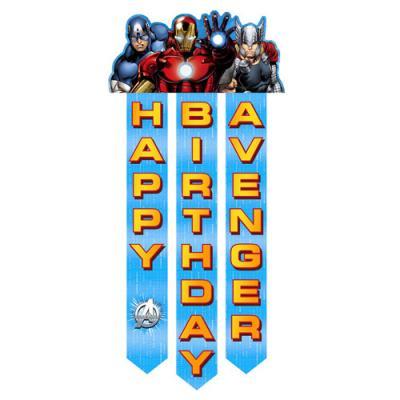 The Avengers Birthday Banner