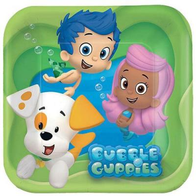 Bubble Guppies Paper Plates 8 Pack Birthday Cake Dessert Plates
