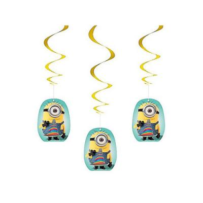 Despicable Me 2 Hanging Swirl Decorations