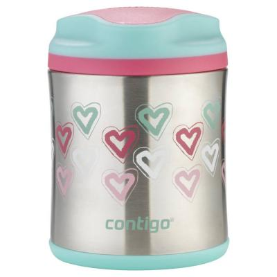Contigo Kids Thermo Insulated Food Jar Flask 300ml | Hearts | Non-Skid Base